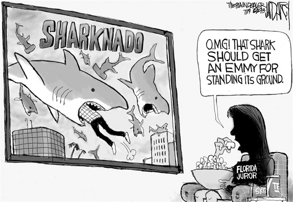 Jeff Darcy - Northeast Ohio Media Group - Stand- Your-Ground Sharknado - English - Stand-your-Ground, Sharknado,Juror B-37