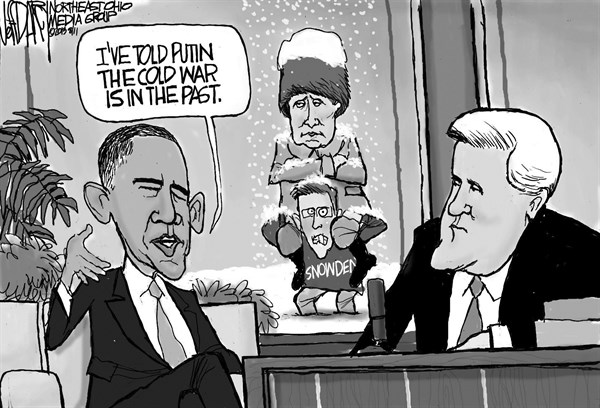 Jeff Darcy - Cleveland.com - Obama, Leno and Putin - English - Barack Obama, Jay Leno, Putin, Cold War
