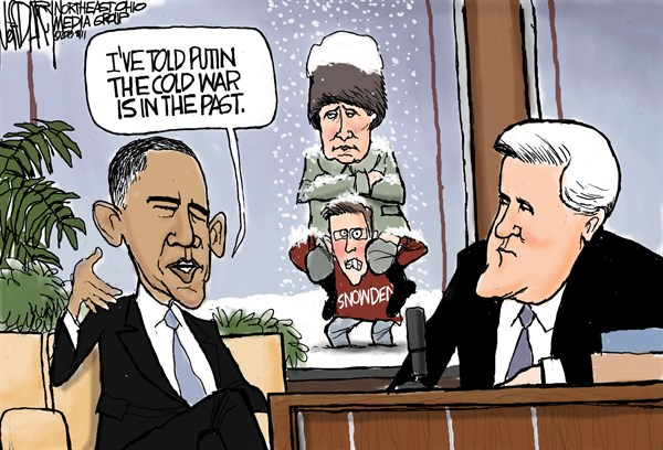 Jeff Darcy - Northeast Ohio Media Group - Obama, Leno, and Putin - English - Barack Obama, Jay Leno, Putin and the Cold War