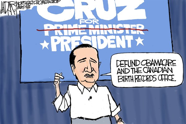 Ted Cruz birther problem © Jeff Darcy,The Cleveland Plain Dealer,Ted Cruz