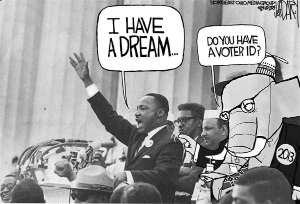 Jeff Darcy - Cleveland.com - MLK dream  GOP nightmare - English - Martin Luther King, March on Washington, Voter ID
