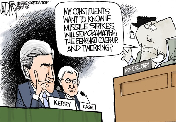 Kerry grilled on Syria © Jeff Darcy,The Cleveland Plain Dealer,Syria hearings,John Kerry,war with syria
