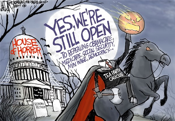 Jeff Darcy - Northeast Ohio Media Group - House of Horror - English - Government Shutdown, Tea Party
