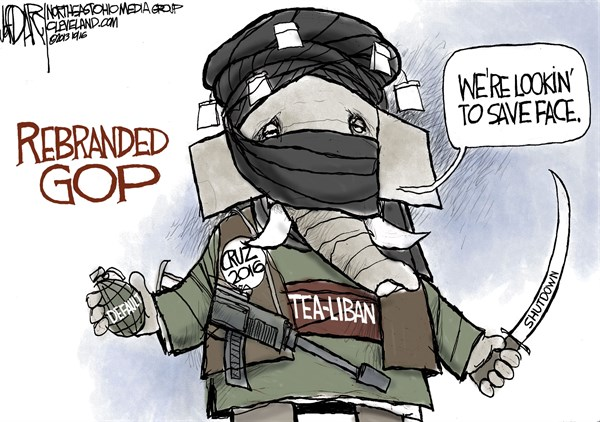 Jeff Darcy - Cleveland.com - GOP Rebranded - English - Taliban, Tea Party