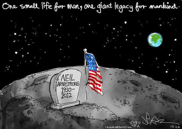 Jeremy Nell - The New Age, South Africa - Neil Armstrong - English - neil armstrong,dead,moon,space,death,first,man,nasa,neil-armstrong-dead