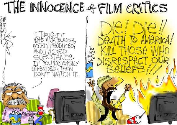 Jeremy Nell - The New Age, South Africa - Innocence of Film Critics - English - libya,attacks,film,video