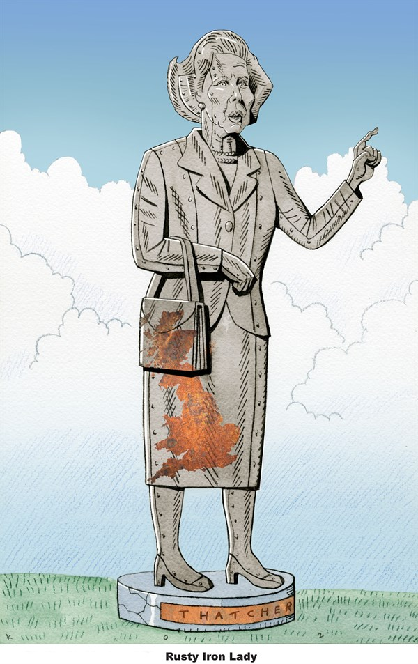 Rusty Iron Lady © Martin Kozlowski,inxart.com,best of inmemoriam,margaret,thatcher,iron lady,death,dead,margaret-thatcher