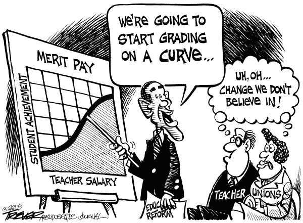 John Trever - The Albuquerque Journal - Merit Pay - English - Obama, Education, Merit Pay, Teacher unions, Trever