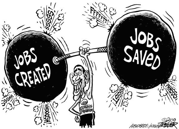 Stimulus Stats © John Trever,The Albuquerque Journal,Obama, Economy, Stimulus, Jobs, Unemployment, Jobs Created, Jobs Saved, Recovery, Recession, Trever