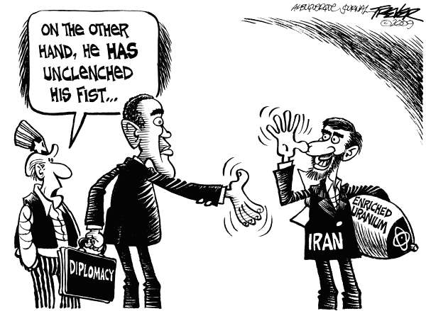 John Trever - The Albuquerque Journal - Irans Unclenched Fist - English - Iran, Uranium, Nuclear program, Ahmadinejad, Obama, Diplomacy, Foreign policy, Nuclear proliferation, UN sanctions, Trever