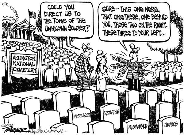 Arlington © John Trever,The Albuquerque Journal,Arlington National Cemetery, Tomb of the Unknown Soldier, Misplaced remains, Mismarked graves, Veterans, Trever
