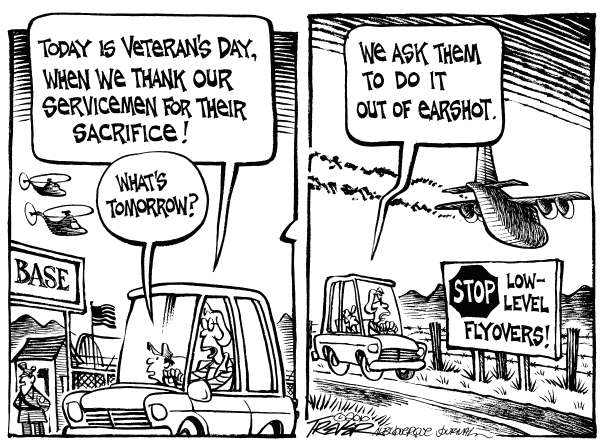 John Trever - The Albuquerque Journal - Veterans Day - English - Veterans Day, Military, Veteran, Air Force, Low-level flyovers, Trever