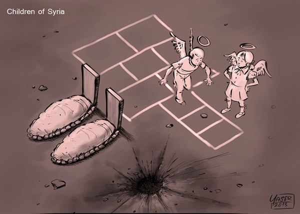 137756 600 Children of Syria cartoons