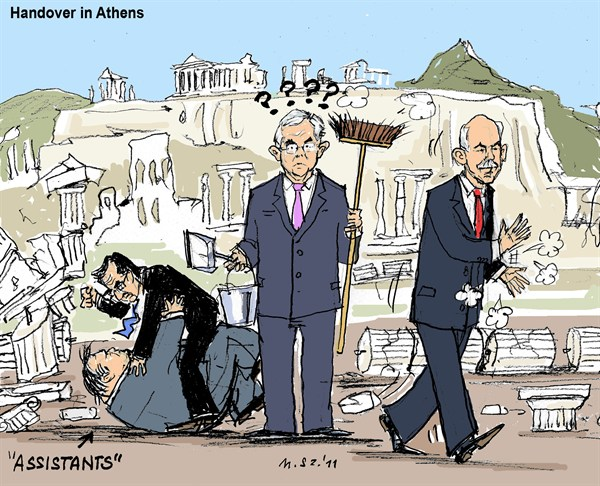 100849 600 Handover in Athens cartoons