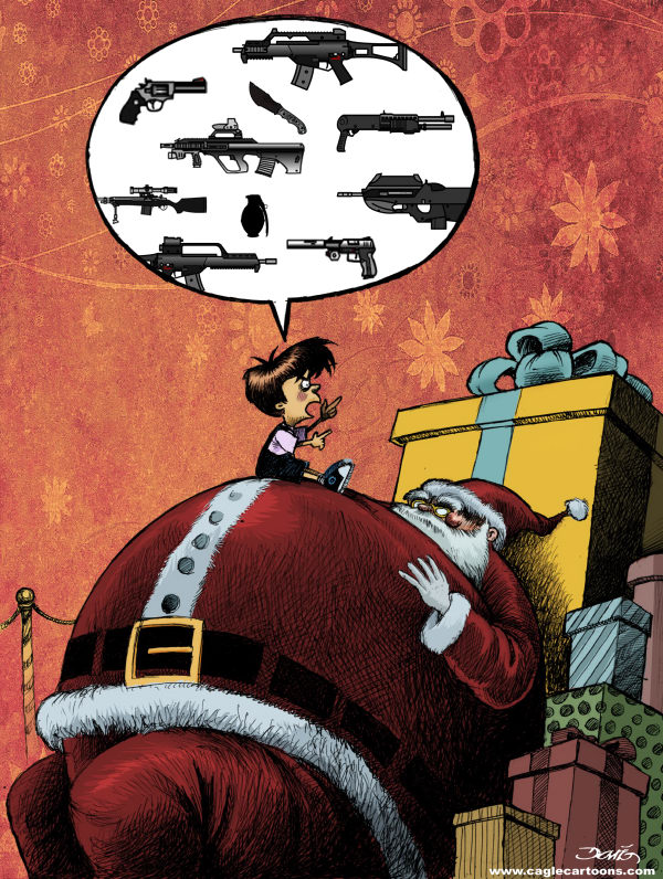 87309 600 Guns for Christmas cartoons