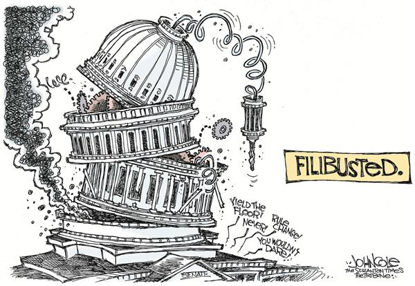 John Cole - The Scranton Times-Tribune - Filibusted - English - filibuster, filibusted, senate, rule, change, politics, tradition, bush, frist, george, w, legislation, legislators, congress, congressional, floor, traditions, capitol, politics