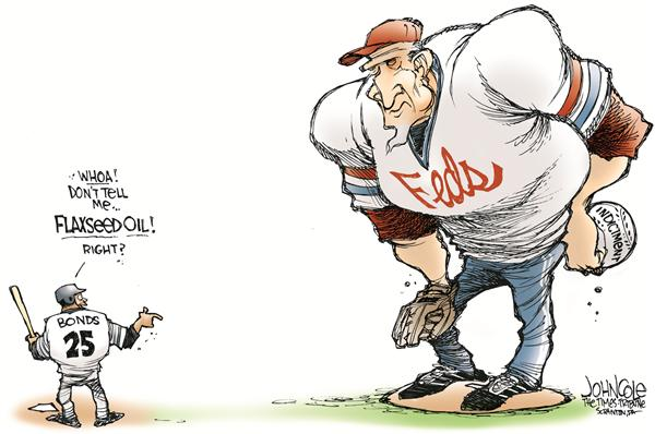 Bonds indicted © John Cole,The Scranton Times-Tribune,barry bonds, bonds, indicted, steroids, baseball, drugs, balco