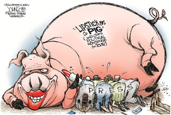 55320 600 Lipstick pigs and the press cartoons