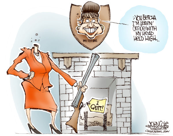 66654 600 On This Day in 2009, Palin Resigns  cartoons