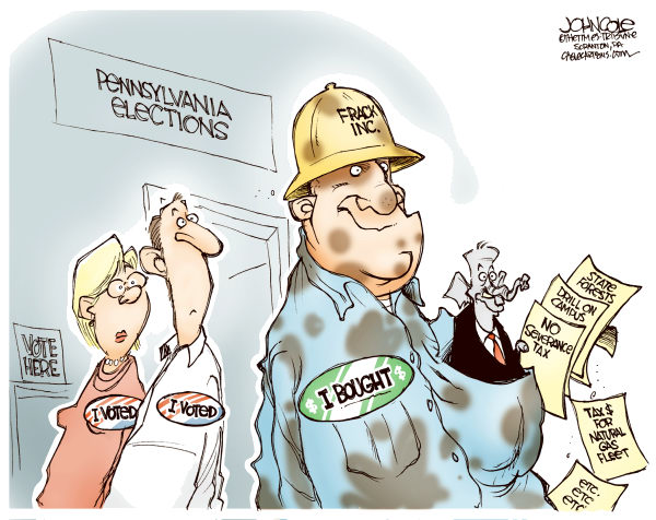 John Cole - The Scranton Times-Tribune - LOCAL PA -- Drillers and GOP - COLOR - English - MARCELLUS, SHALE, NATURAL, GAS, PENNSYLVANIA, LEGISLATURE, GOP, CORBETT, GENERAL ASSEMBLY, SEVERANCE, TAX