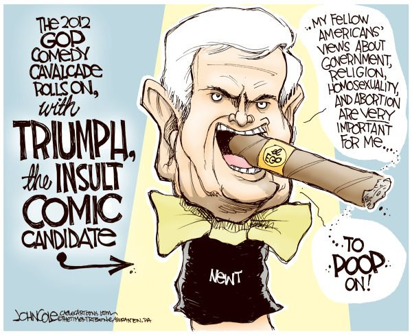 93025 600 Newt the Insult Comic Candidate cartoons