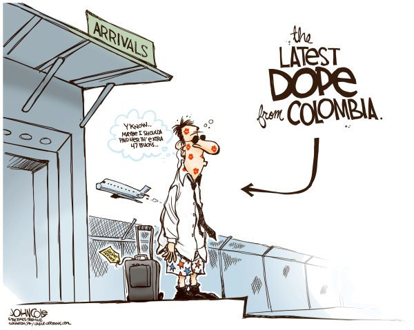 John Cole - The Scranton Times-Tribune - Colombia dope COLOR - English - secret service, colombia, cartagena, prostitutem obama