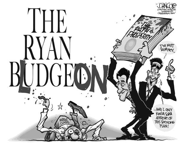 John Cole - The Scranton Times-Tribune - The Ryan budget BW - English -