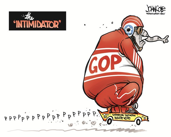 122972 600 GOP and the shrinking white southern vote cartoons