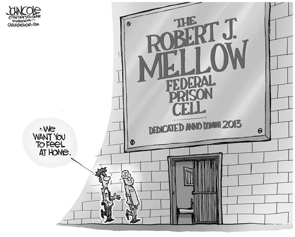 John Cole - The Scranton Times-Tribune - LOCAL PA -- Bob Mellow reports to prison BW - English - pennsylvania, robert mellow, legislature, bonusgate