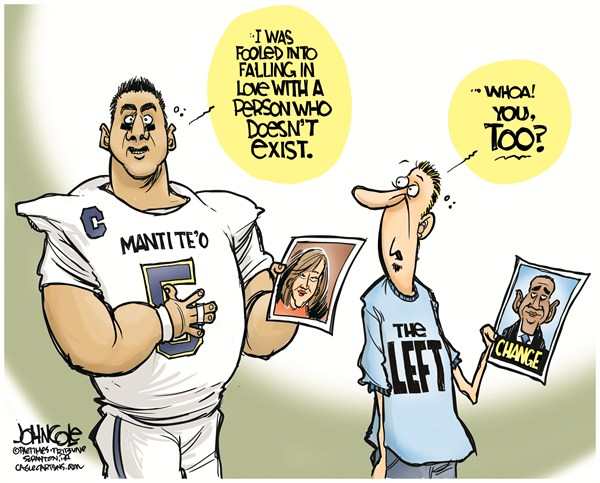 125838 600 Manti Teo and Obama cartoons