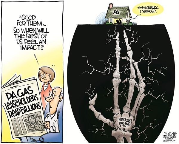 126290 600 LOCAL PA    Gas drilling and environment cartoons