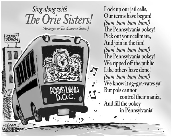 John Cole - The Scranton Times-Tribune - LOCAL PA -- The Orie Sisters BW - English - pennsylvania, Jane Orie, Joan Orie Melvin, Janine Orie, bonusgate