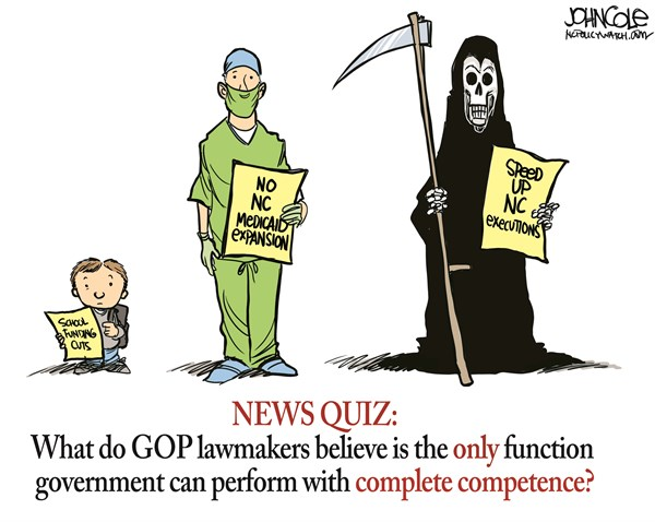 128848 600 LOCAL NC    GOP and death penalty cartoons