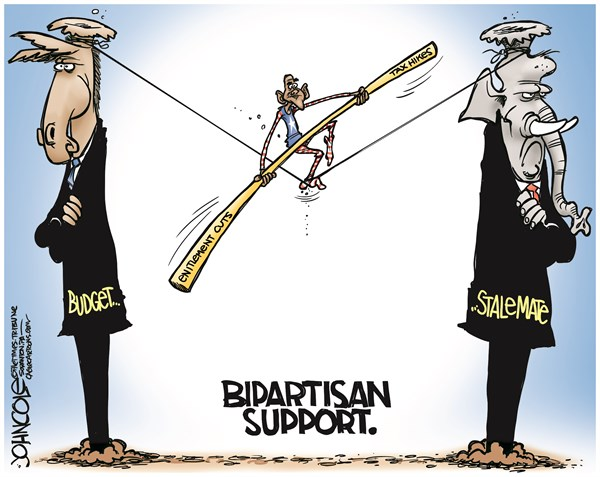 John Cole - The Scranton Times-Tribune - Obama Bipartisan Budget - COLOR - English - democrats,bipartisan,budget, republicans