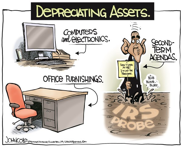 John Cole - The Scranton Times-Tribune - Obama depreciated COLOR - English - IRS, targeting, scandal, probe, tea party, conservatives, congress