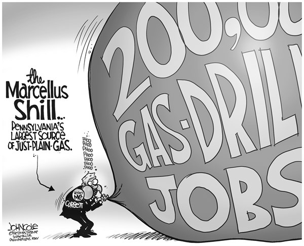 John Cole - The Scranton Times-Tribune - LOCAL PA -- Corbtt and gas jobs BW - English - PENNSYLVANIA, TOM CORBETT, NATURAL GAS, DRILLING, JOBS, 2014 ELECTION, GOP