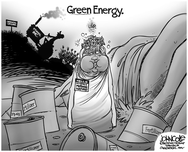 John Cole - The Scranton Times-Tribune - Green Energy BW - English - Ethanol, bio-fuels, agribusiness, agriculture, pollution