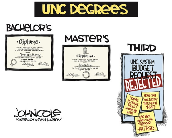 145508 600 LOCAL NC    Pope and UNC cartoons