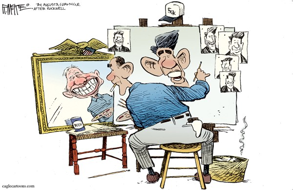 99792 600 Obamas Self Portrait cartoons