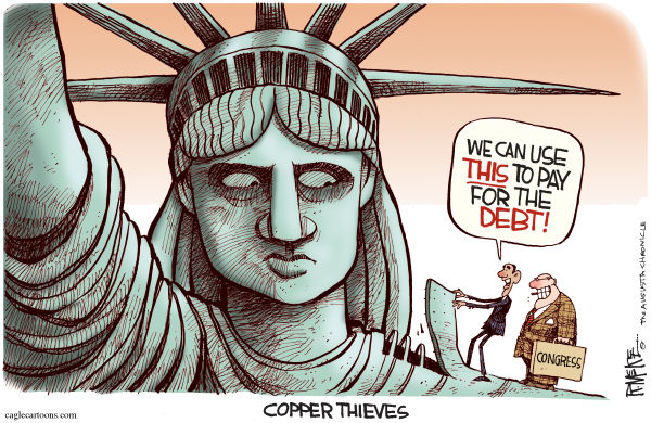 99743 600 Obama Copper Thief cartoons