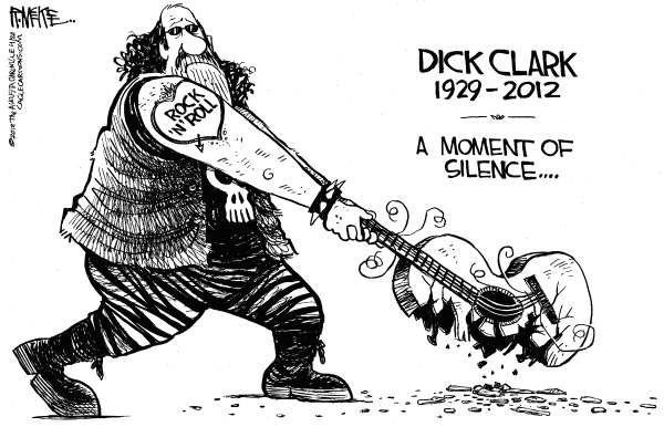 Rick McKee - The Augusta Chronicle - RIP Dick Clark - English - Dick Clark