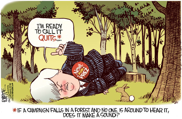 Rick McKee - The Augusta Chronicle - Newt Quits - English - Newt, Gingrich, quits, campaign, GOP, Republican, presidential, primary