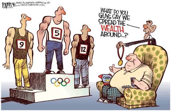 116145 600 Spreading the Olympic Wealth cartoons