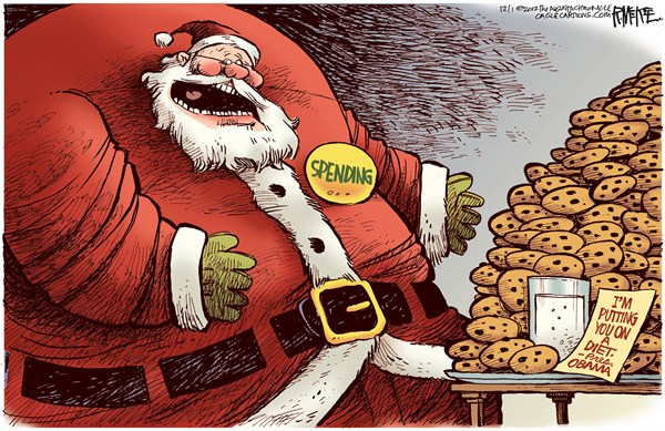 123242 600 Spending Santa Diet cartoons