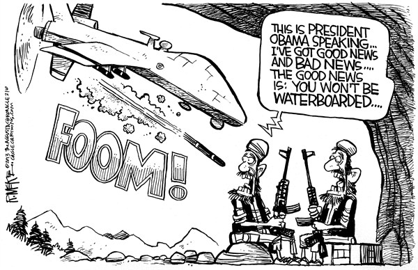 Rick McKee - The Augusta Chronicle - Obama Drone Strike - English - Obama, drone, policy, terrorists