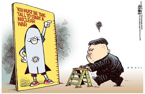 129722 600 Kim Jong Un War cartoons