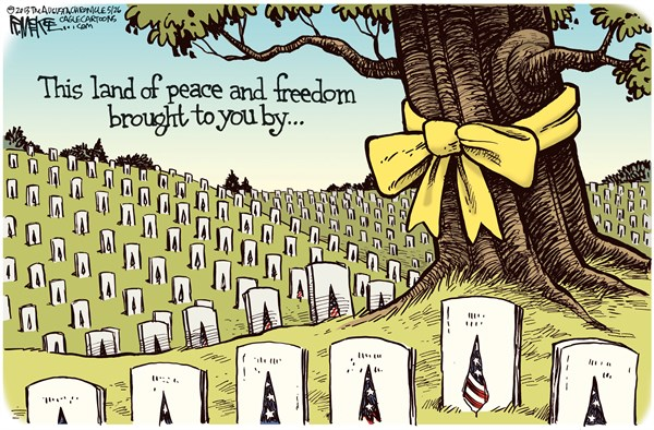 Rick McKee - The Augusta Chronicle - Memorial Day COLOR - English - Memorial Day