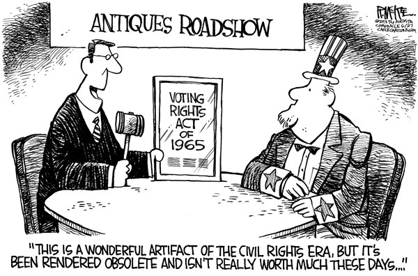 Rick McKee - The Augusta Chronicle - Voting Rights Act - English - Voting Rights Act, Supreme Court