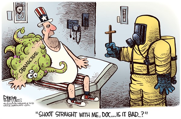 Obamacare Bad © Rick McKee,The Augusta Chronicle,Obamacare, midterm elections