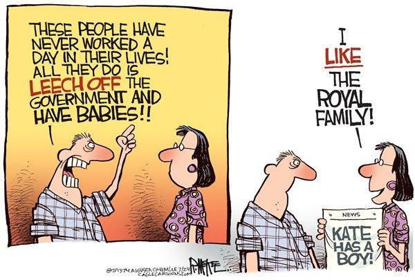 Rick McKee - The Augusta Chronicle - Royal Baby COLOR - English - Royal baby